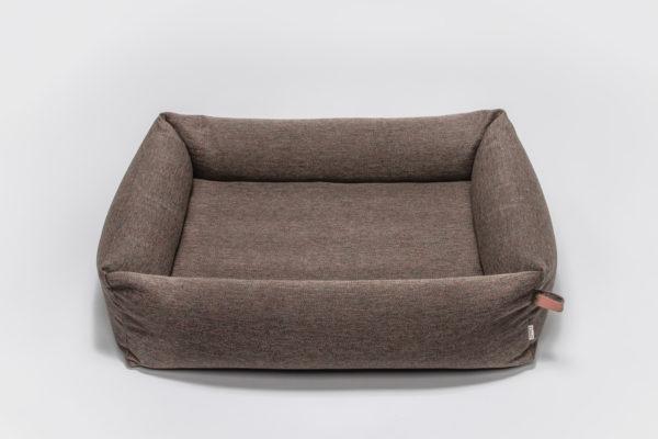 Cloud7-Dog-Bed-Sleepy-Deluxe-Herringbone-Brown-M