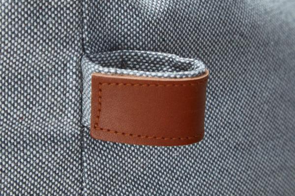 Cloud7-Dog-Bed-Sleepy-Deluxe-Tweed-Grey-Detail-Leather-Strap